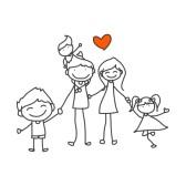 21948147-disegno-a-mano-cartone-animato-famiglia-felice-di-giocare